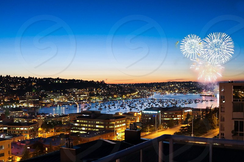 Celebrating the 4th on Lake Union in Seattle. photo