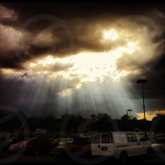 Sun clouds sky  photo