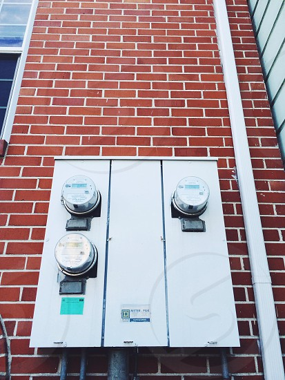 white electric meter reader photo