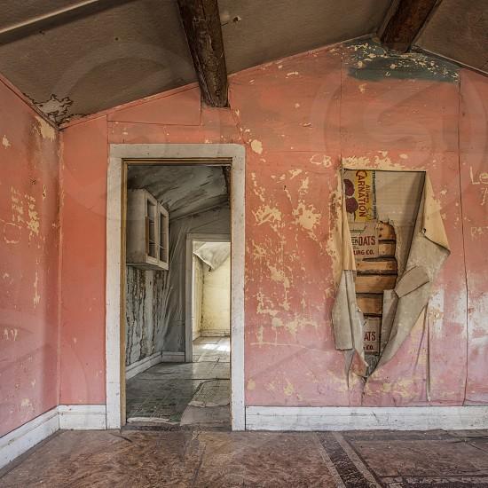 Forgotten abandoned room homewallpaper damaged house pink photo