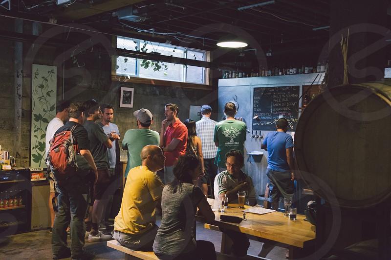 Beer tasting at Urban Micro Brewery.  photo