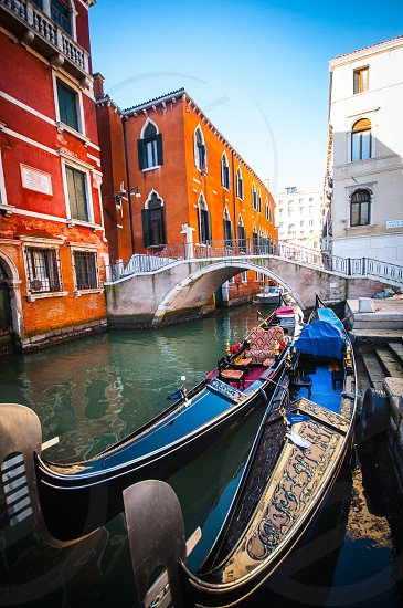 venice gondolas italy photo