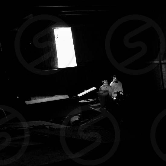 'Alone in a Shack' Black and White Lighting Rural photo