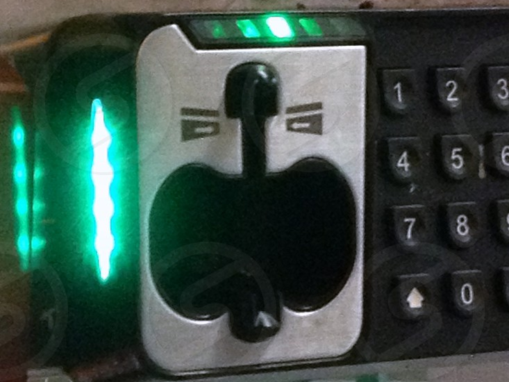 Credit card reader that looks like laughing face photo