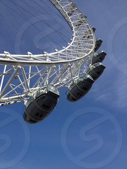 London eye Big wheel tourist attraction photo