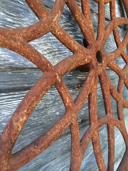 wrought iron star decoration photo
