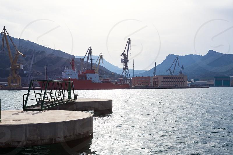 Cartagena Murcia port marina in Mediterranean Spain photo