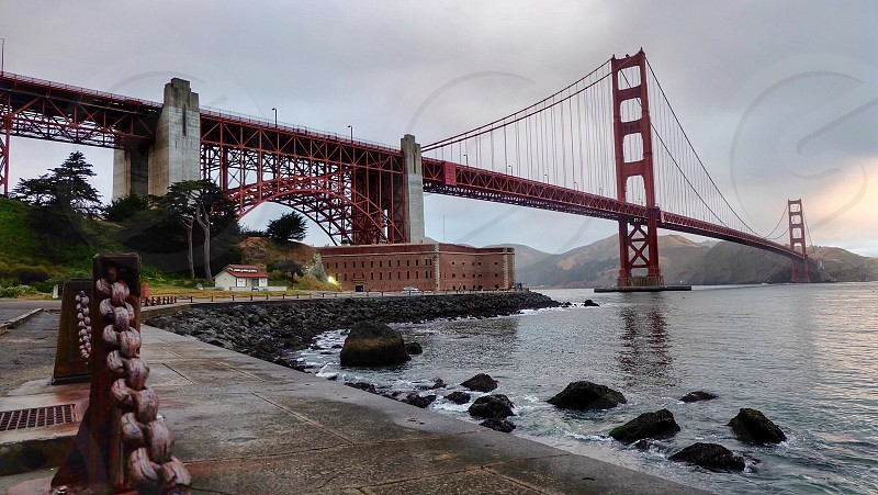 Crissy field San Francisco Bay Area Golden Gate Bridge  photo