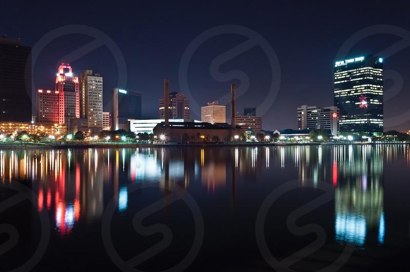 Photo By Lee Repass Maumee River Reflecting The Night Toledo Ohio Skyline