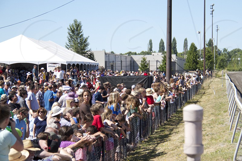 Crowded day @ the races photo
