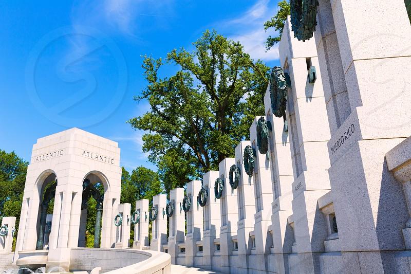 World War II Memorial in washington DC USA at National Mall photo