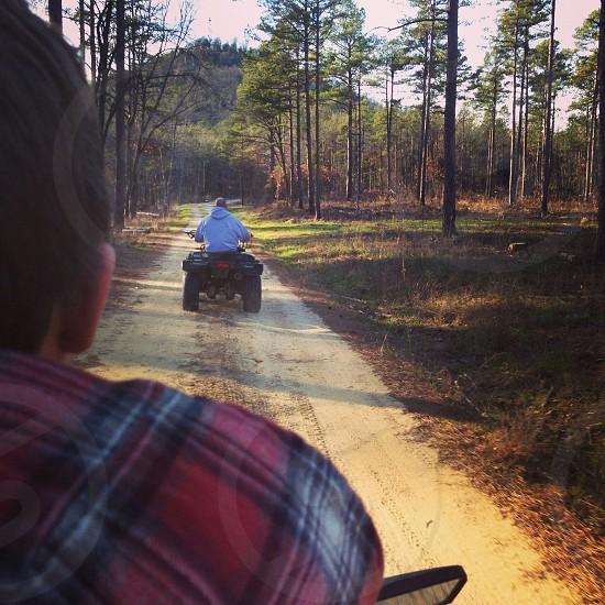 Four wheeler adventure fun outdoors wilderness Arkansas dirt road  photo