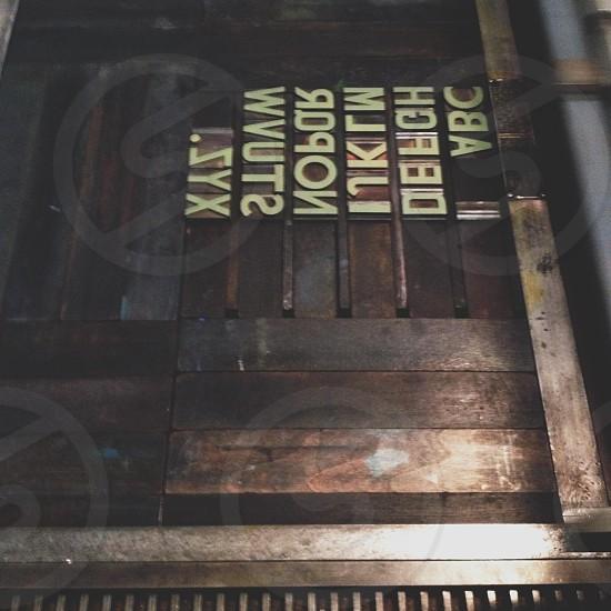 letterpress photo