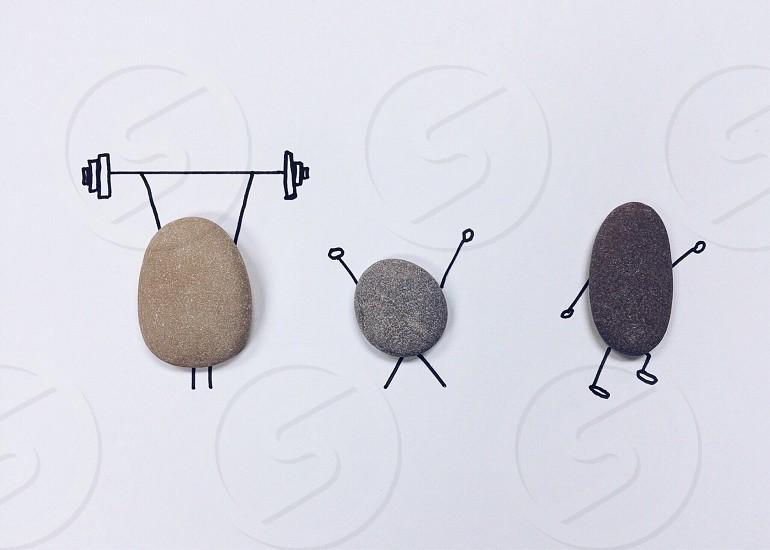 pebbles fitness motivational illustration photo
