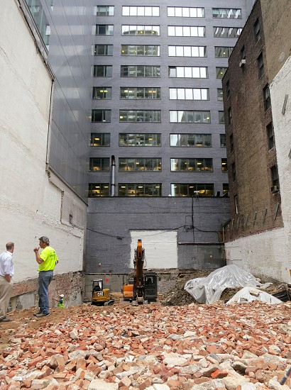Making way for a new building New York City photo