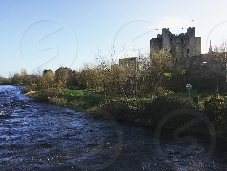 Riverside photo of the ancient Trim Castle Trim Ireland photo