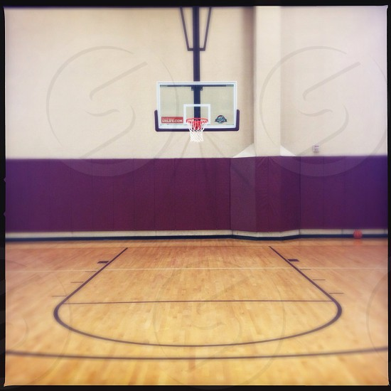 Empty basketball court  photo