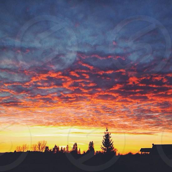 cloud silhouette  photo