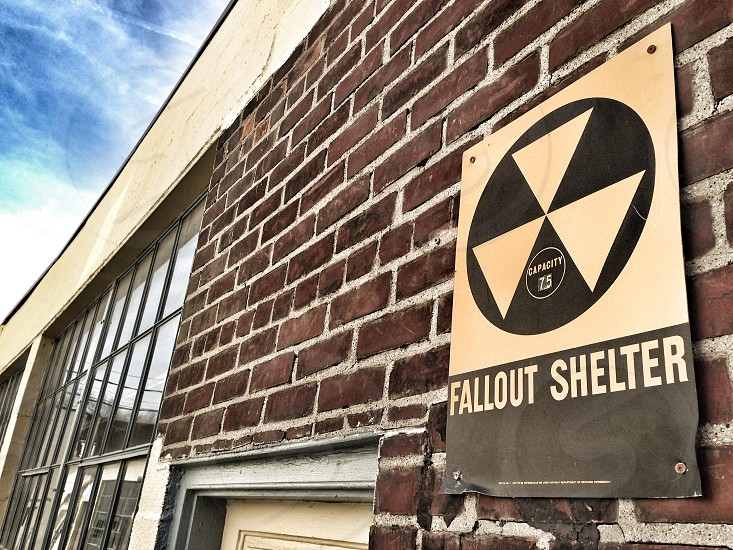 radioactive fall out filter sign photo