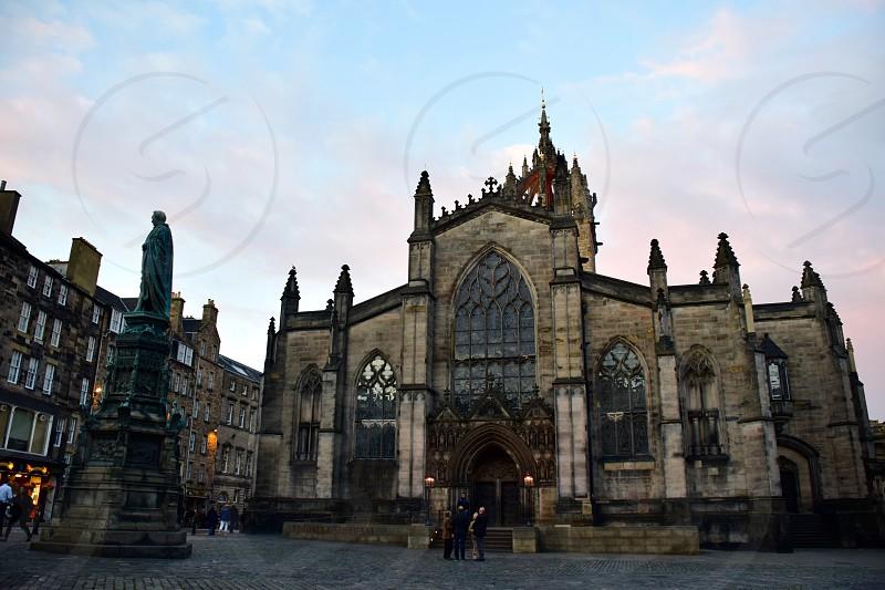 Cityscape Edinburgh Scotland photo