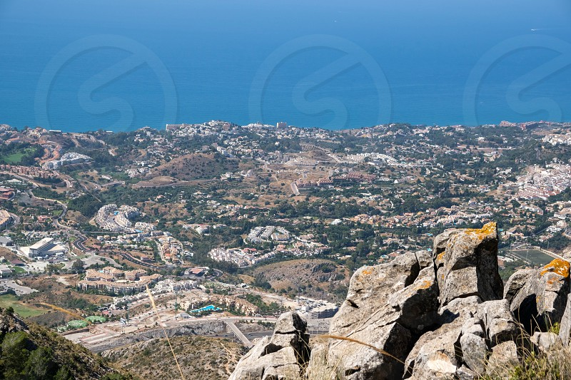BENALMADENA ANDALUCIA/SPAIN - JULY 7 : View from Mount Calamorro near Benalmadena Spain on July 7 2017 photo