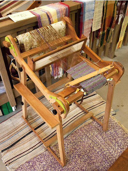 Old loom or weaving station photo