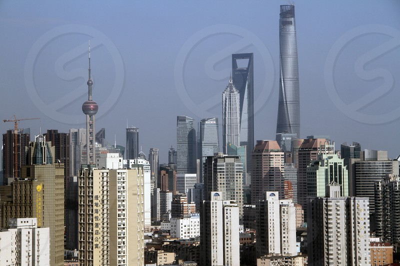 Shanghai China (from my window). Local tip: use the days without pollution for outdoor activities: sightseeing picture-taking walks in the parks ... photo
