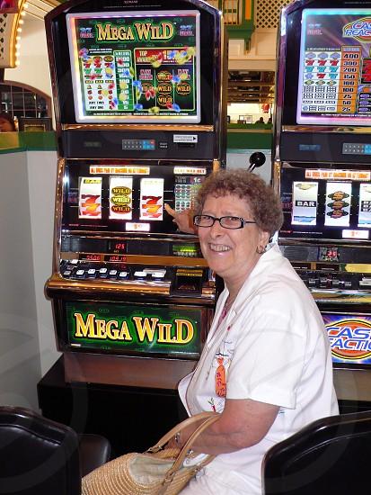 Slot machine winner photo