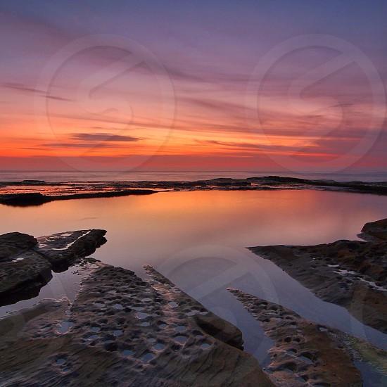 Narrabeen Beach sunrise Sydney photo