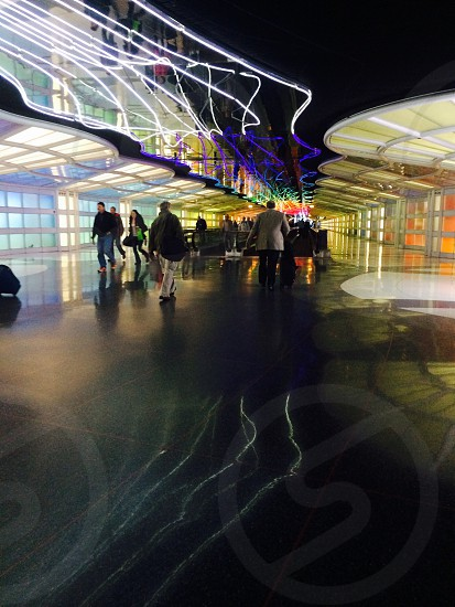 Hustle and bustle of Chicago O'Hare Airport  photo