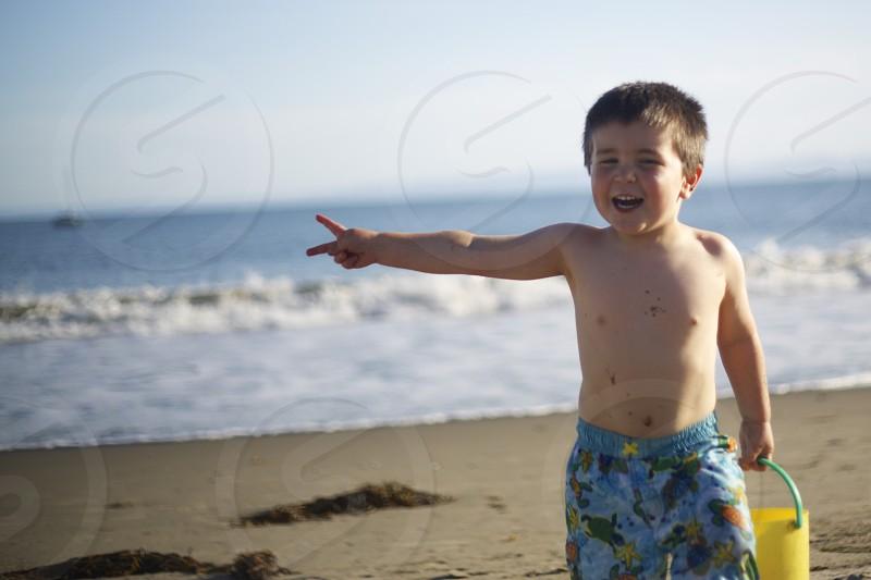 My 3.5 year-old on Goleta Beach Goleta CA photo