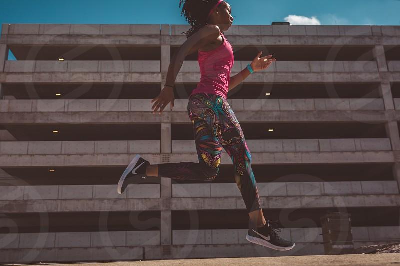 Fitness Athletes Athletic Running Gym photo