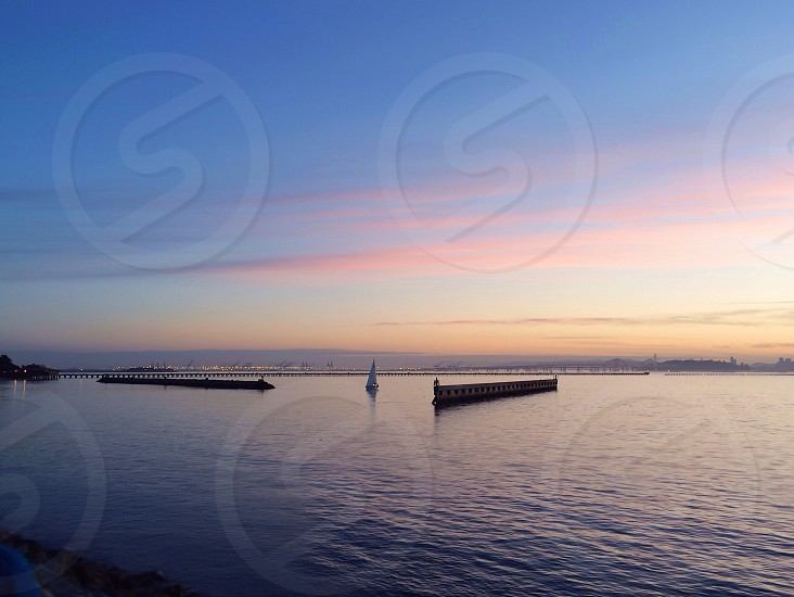 seaview over sunset photography  photo