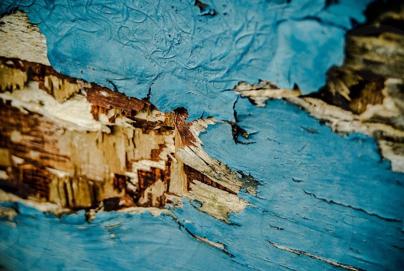Wood and paint texture photo