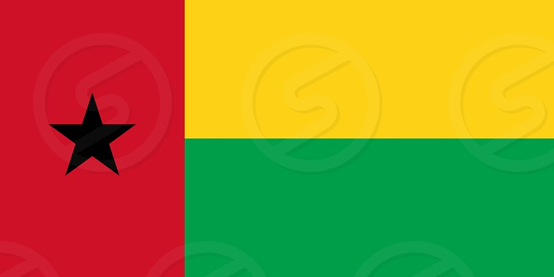 Official Large Flat Flag of Guinea-Bissau Horizontal photo