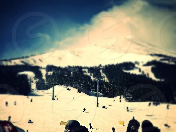 Mountain ski resort snow photo