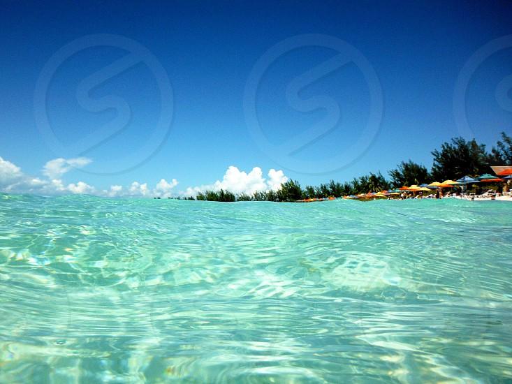 In the ocean at a Caribbean beach photo