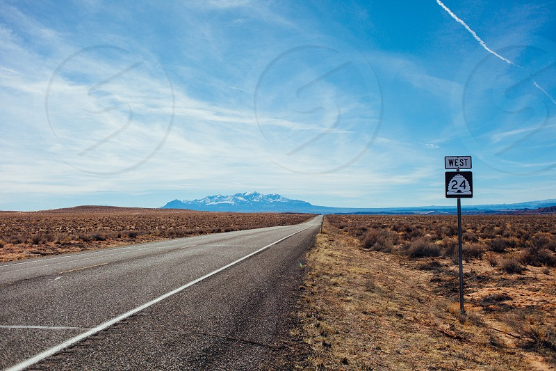 Heading West on Utah Scenic Byway Route 24 photo