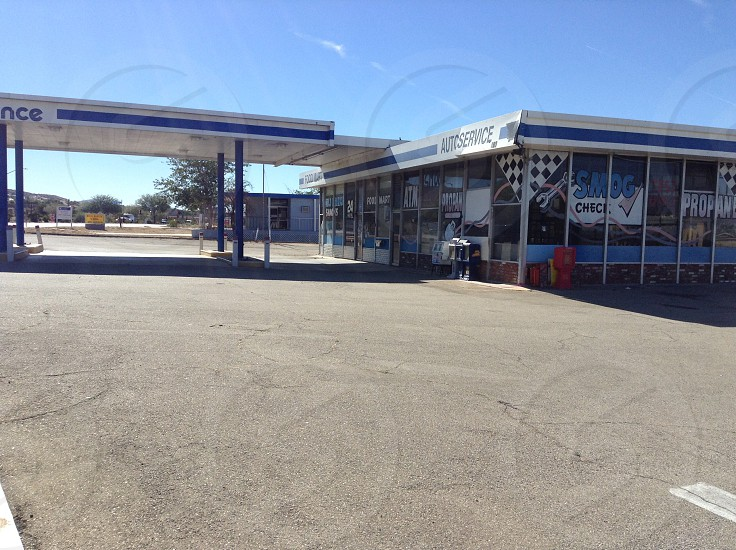 Gas station out of business photo