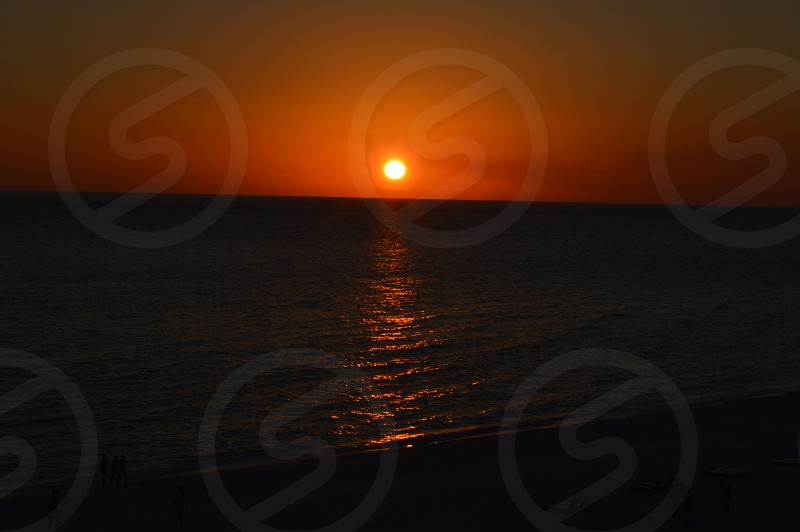 Sunset At the Beech photo