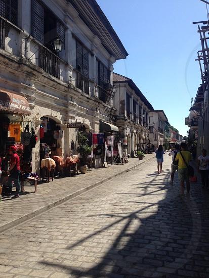 Old design of houses in Calle Crisologo Vigan Ilocos Philippines photo