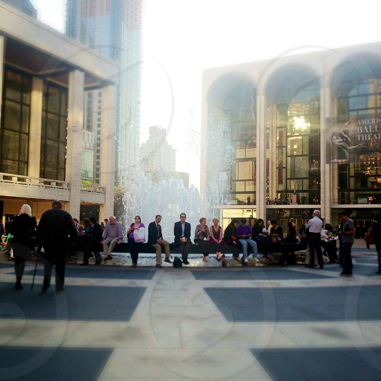 Opera night...At Lincoln Center NYC. photo