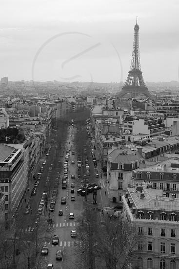 Paris France aerial photo