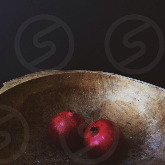 2 pieces pomegranate photo