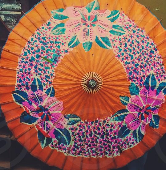Umbrella color oriental art photo
