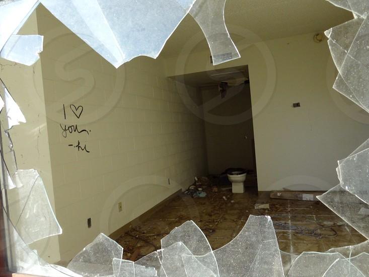 broken glass window photo