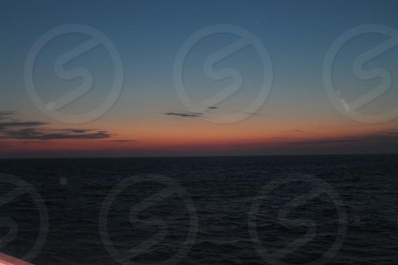Sunset in Freeport Bahamas  photo