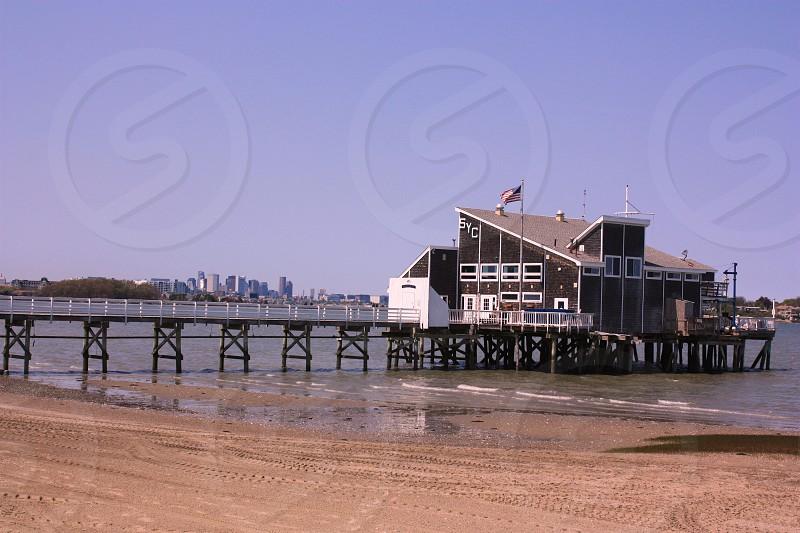 City skyline beach  photo