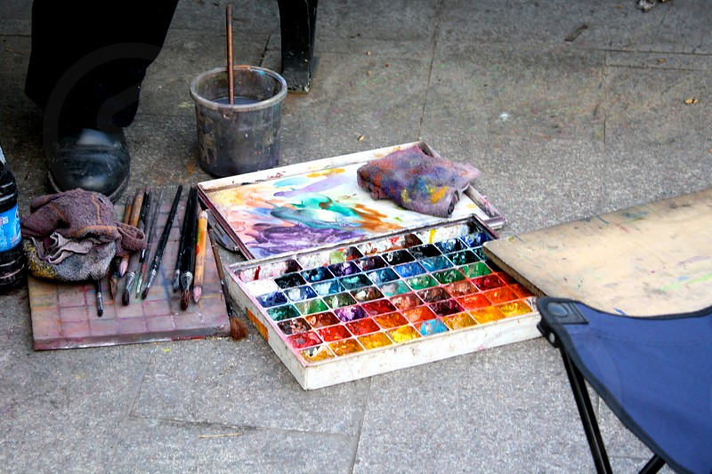 painting in the park photo