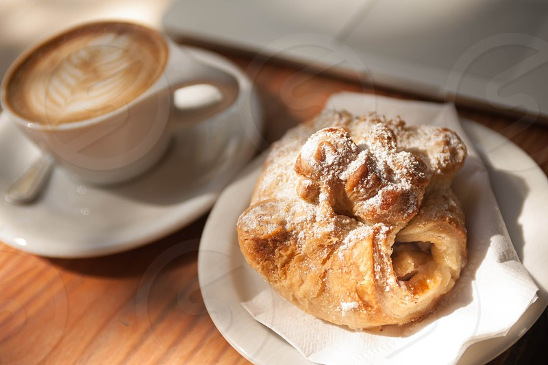 Pastry and coffee photo